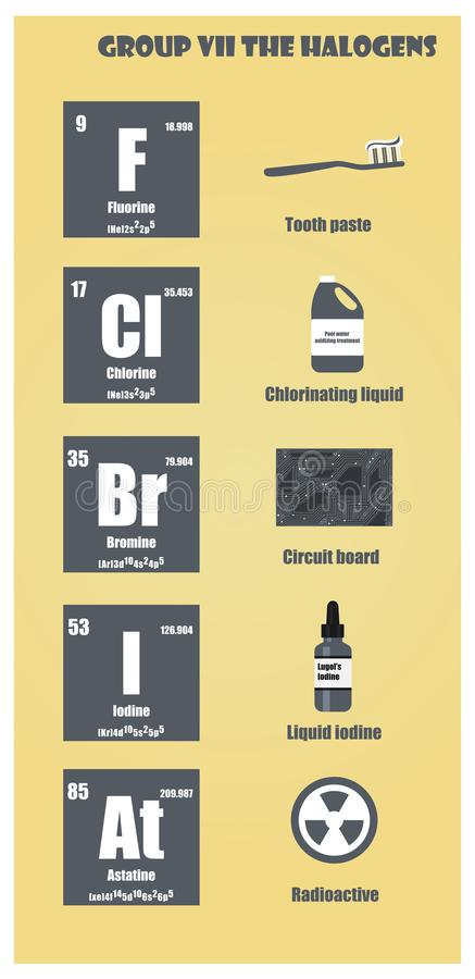 Periodic table of element group vii the halogens stock illustration download periodic table of element group vii the halogens stock illustration illustration of period urtaz Images