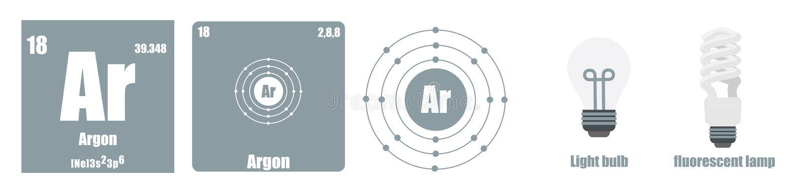 Periodic Table of element group VIII The noble gases vector illustration