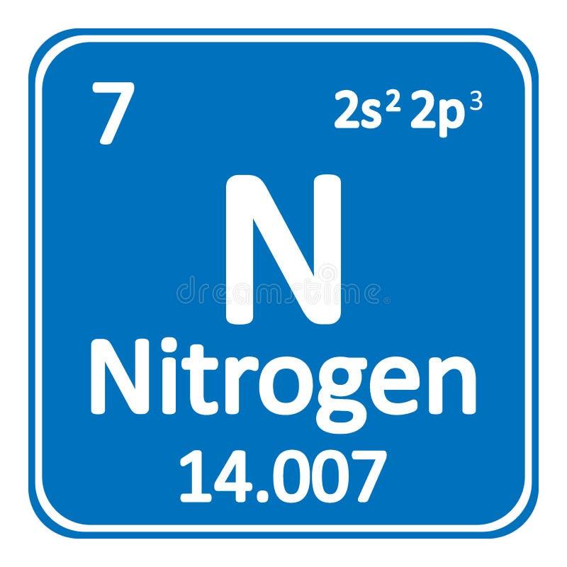 Periodic table element nitrogen icon stock illustration download periodic table element nitrogen icon stock illustration illustration of button chemical urtaz Images