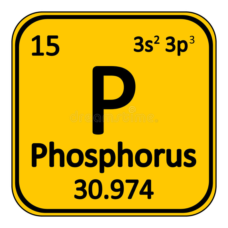 Periodic Table Element Phosphorus Icon Stock Illustration
