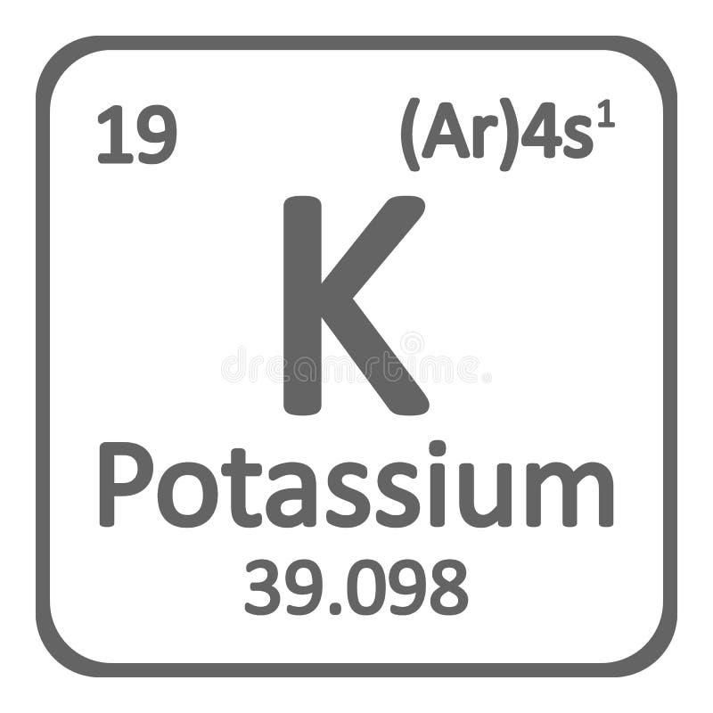 Periodic Table Element Potassium Icon Stock Illustration