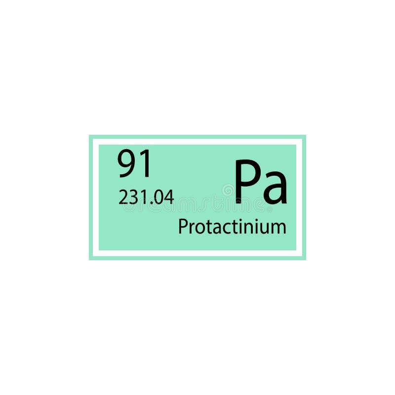 Periodic table element protactinium icon. Element of chemical sign icon. Premium quality graphic design icon. Signs and symbols co stock illustration