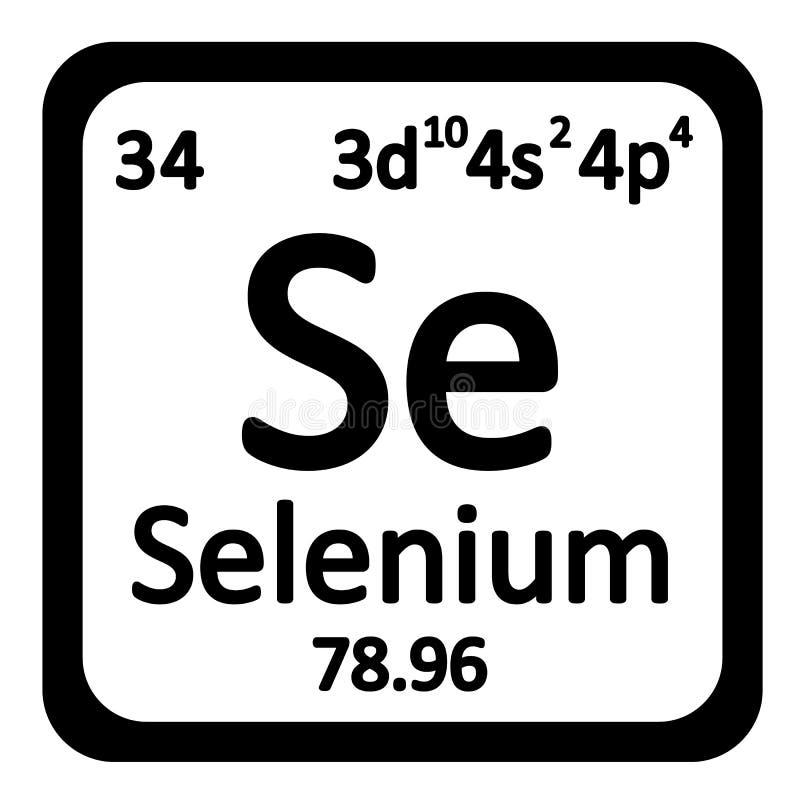 Periodic Table Element Selenium Icon Stock Illustration