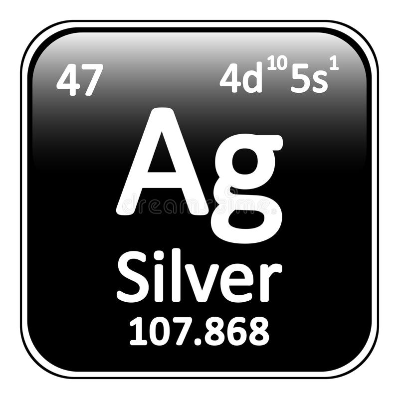 Periodic table element silver icon stock illustration download periodic table element silver icon stock illustration illustration of chemistry argentum urtaz Image collections