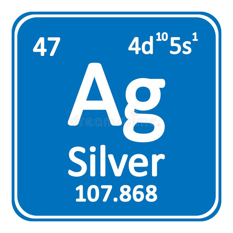 Periodic table element silver icon stock illustration download periodic table element silver icon stock illustration illustration of name atom urtaz Choice Image