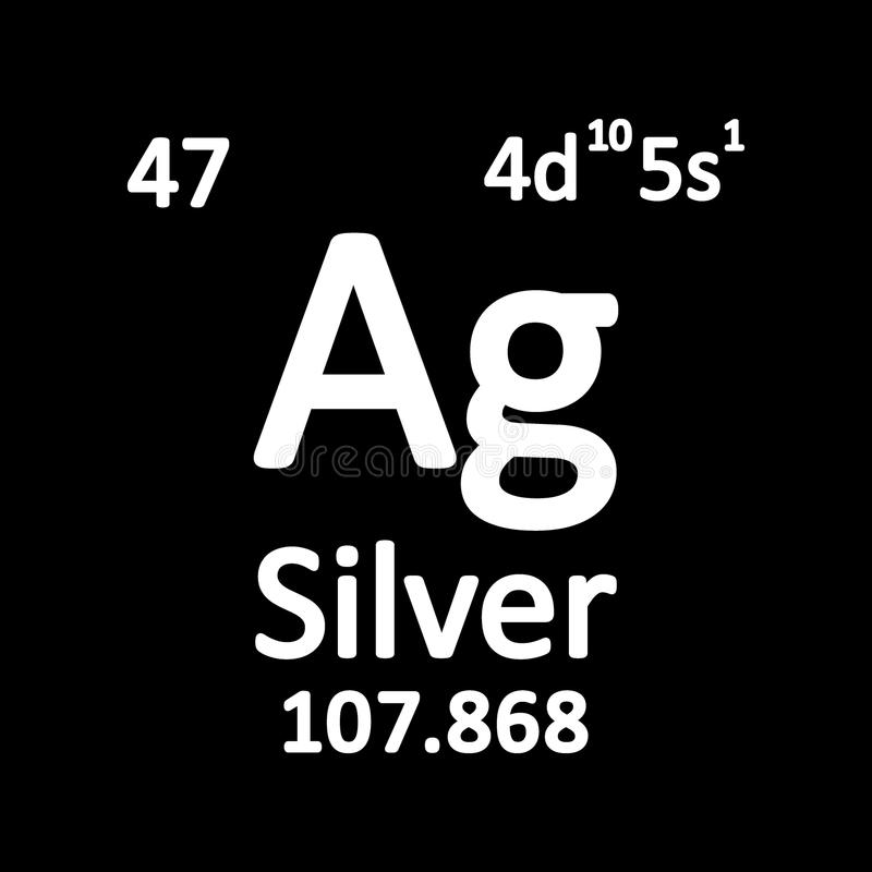 Periodic table element silver icon stock illustration download periodic table element silver icon stock illustration illustration of name grey urtaz Gallery