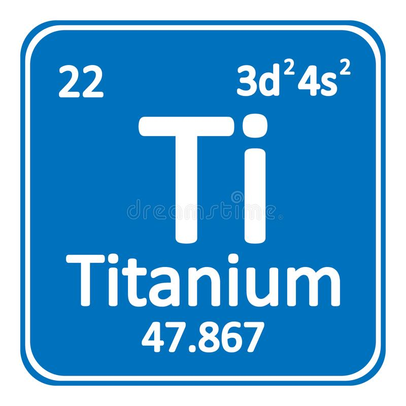 Download Periodic Table Element Titanium Icon. Stock Illustration    Illustration Of School, Molecule: