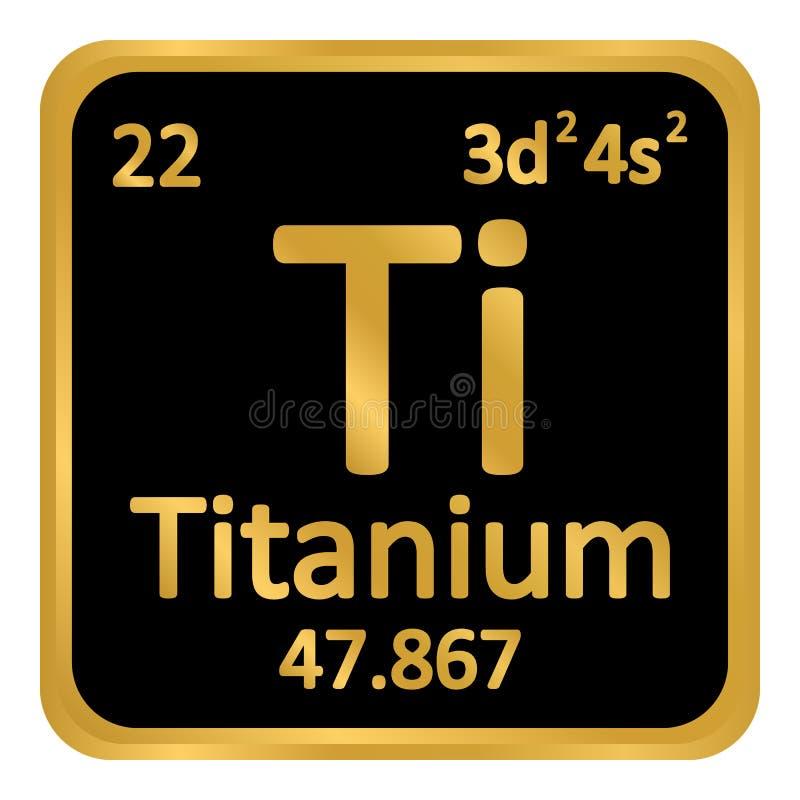 Periodic Table Element Titanium Icon. Stock Illustration ...