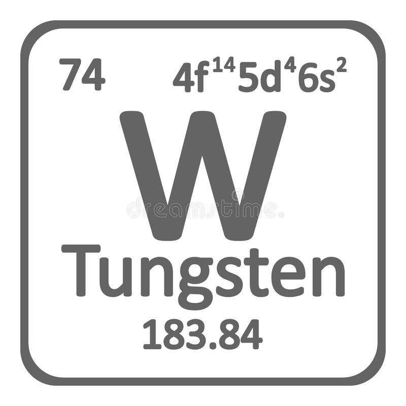 Periodic table element tungsten icon stock illustration download periodic table element tungsten icon stock illustration illustration of atom material urtaz Image collections
