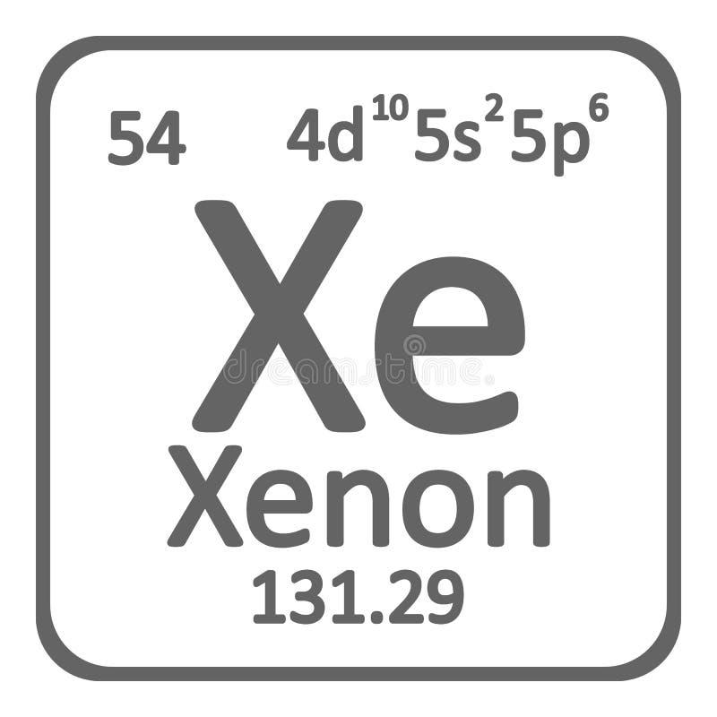 Periodic table element xenon icon stock illustration illustration download periodic table element xenon icon stock illustration illustration of atom mendeleev urtaz Choice Image