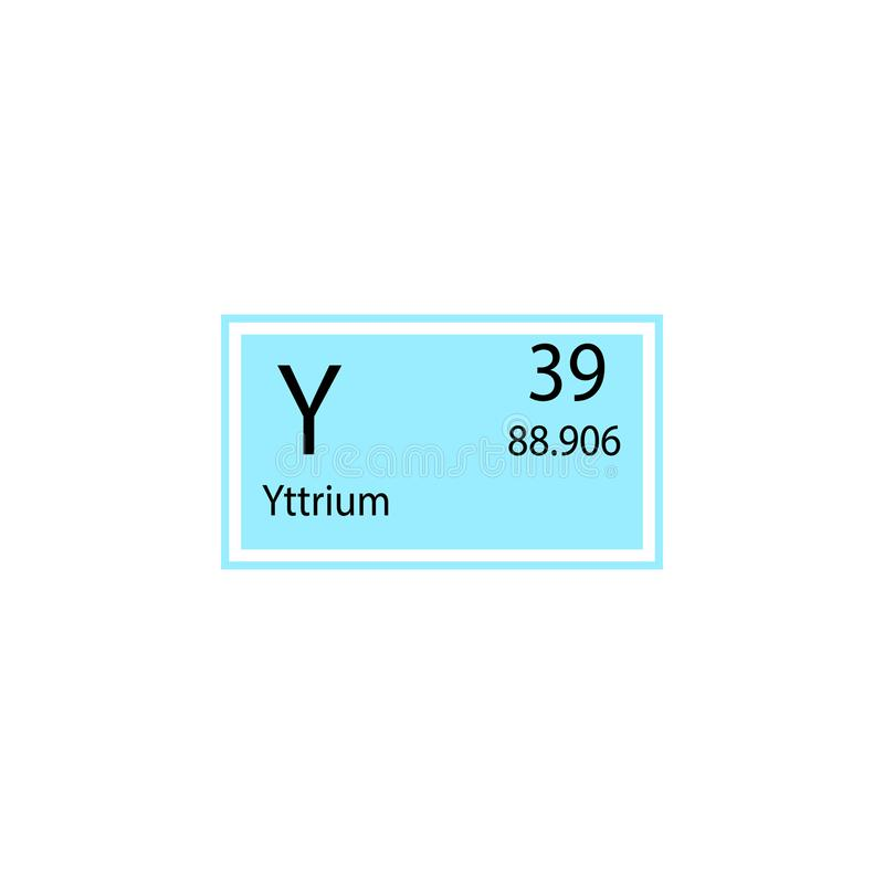 Periodic Table Element Yttrium Icon Element Of Chemical Sign Icon
