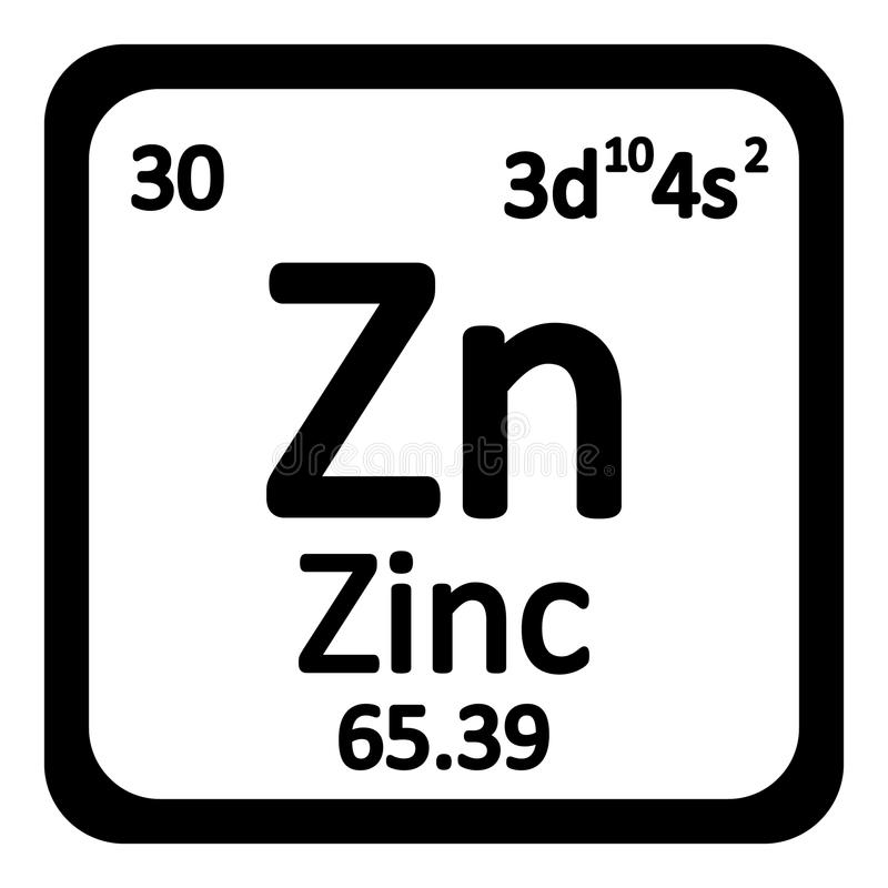Free Periodic Table Element Zinc Icon. Royalty Free Stock Image - 78441916