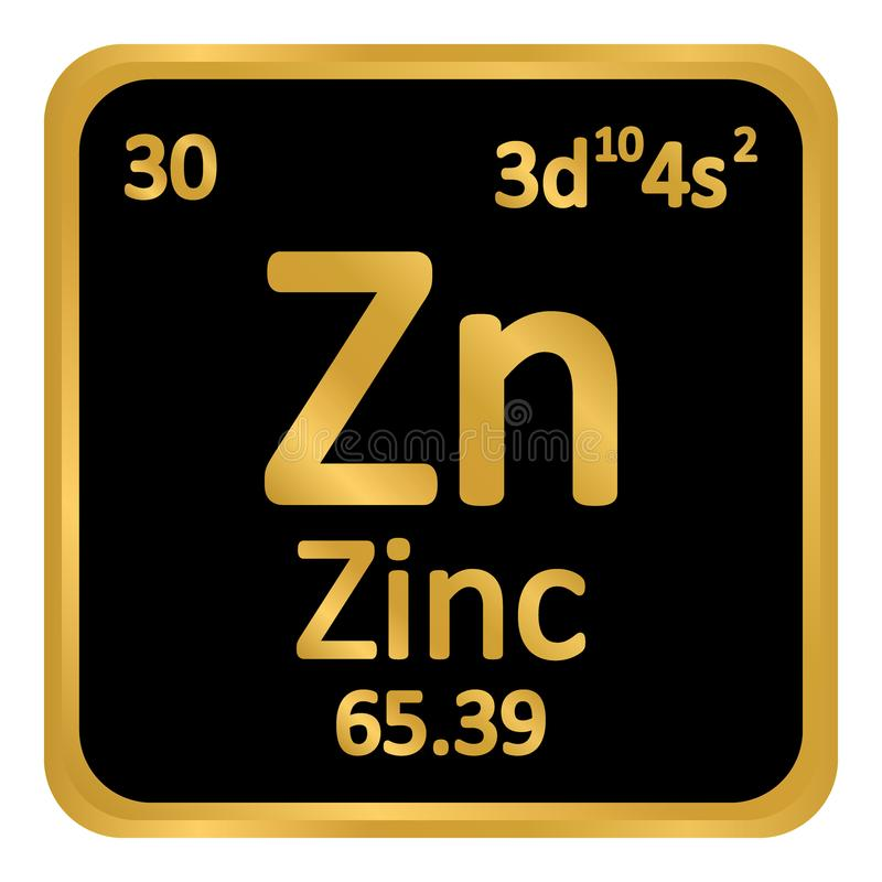 Periodic Table Element Zinc Icon Stock Illustration Illustration