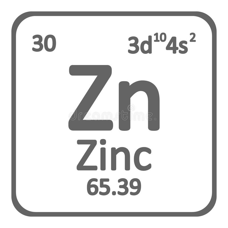 Periodic Table Element Zinc Icon Stock Illustration Illustration