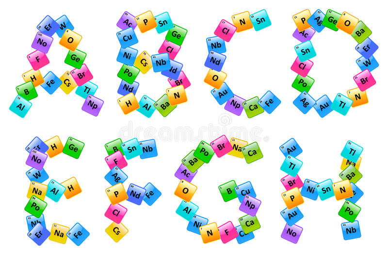 Periodic table of elements alphabet letters stock vector download periodic table of elements alphabet letters stock vector illustration of color information urtaz Image collections