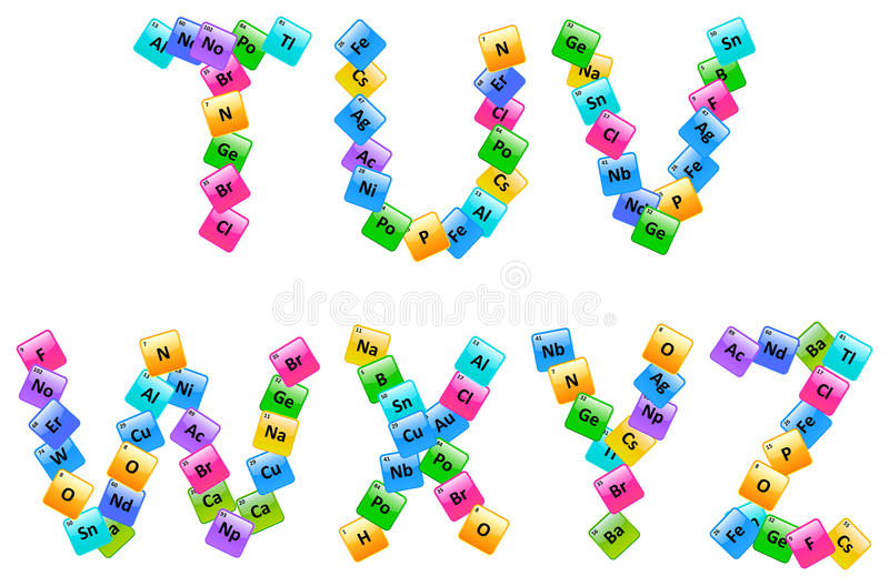 Periodic table of elements alphabet letters stock vector download periodic table of elements alphabet letters stock vector illustration of color chemistry urtaz Image collections