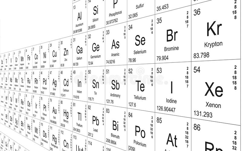 Download Periodic table perspective stock illustration. Illustration of background - 25032248