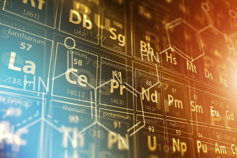 Periodic Table Science stock photography