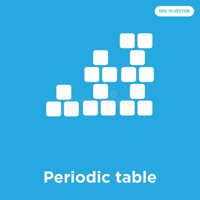 Download Periodic Table Icon Isolated On Blue Background Stock Illustration    Illustration Of Laboratory, Table