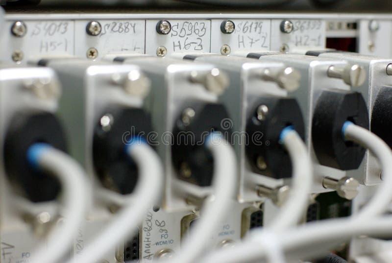 Periodieke kabels DOF royalty-vrije stock afbeeldingen