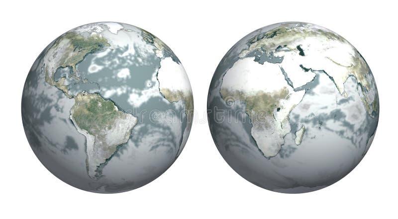 Periodo di glaciazione immagini stock libere da diritti