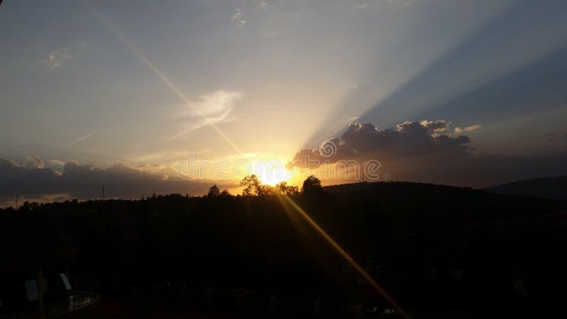 Periodo di siccità del sole di Kigali fotografie stock libere da diritti