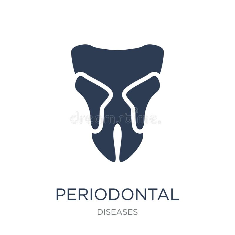 Periodontal disease icon. Trendy flat vector Periodontal disease royalty free illustration