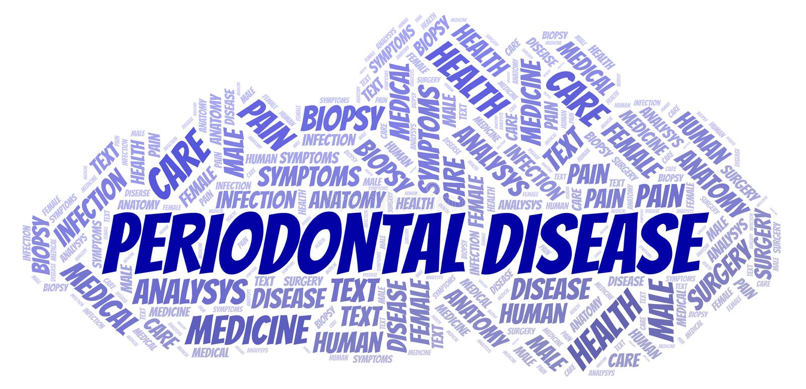 Periodontal Disease word cloud stock illustration