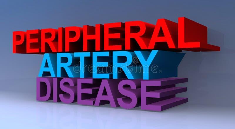 Peripheral artery disease. On blue royalty free illustration