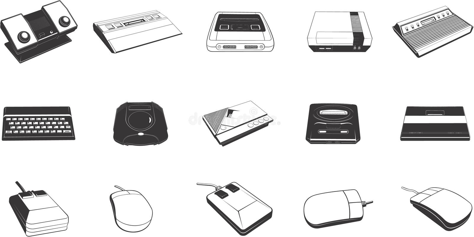 Peripheral Devices vector illustration