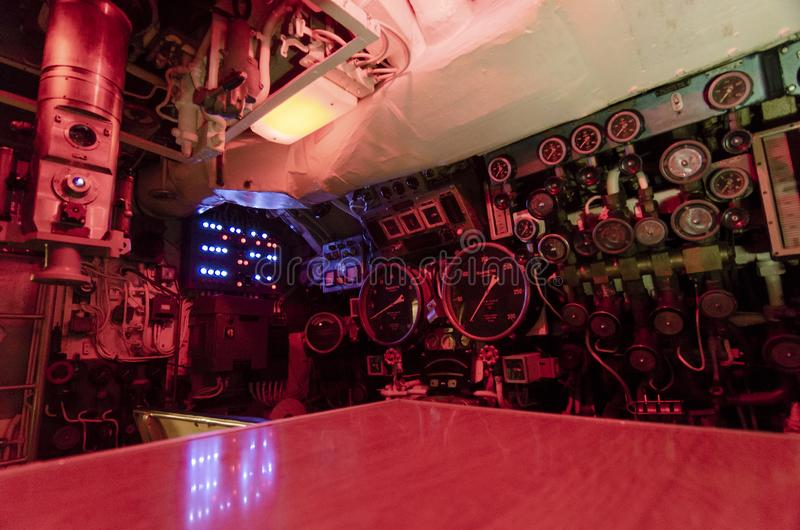 Submarine Interior royalty free stock photos