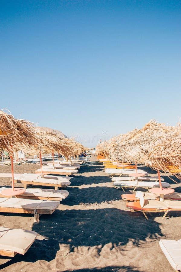 PERISSA海滩,圣托里尼,希腊 免版税库存图片