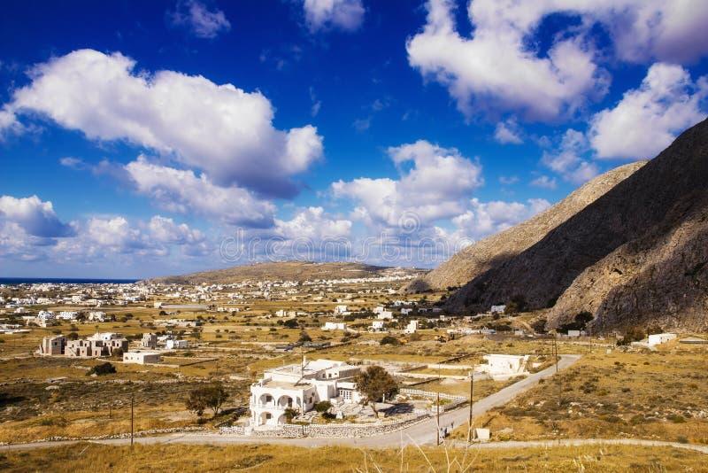 Perissa village, Santorini royalty free stock images