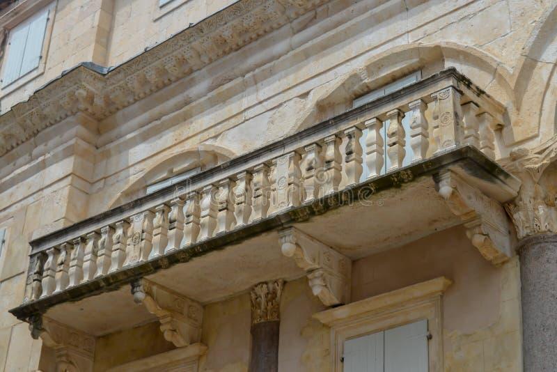 Peristil del palacio de Diocletian en fractura el 15 de junio de 2019 Algunos episods del juego de tronos filmaron t imagen de archivo libre de regalías