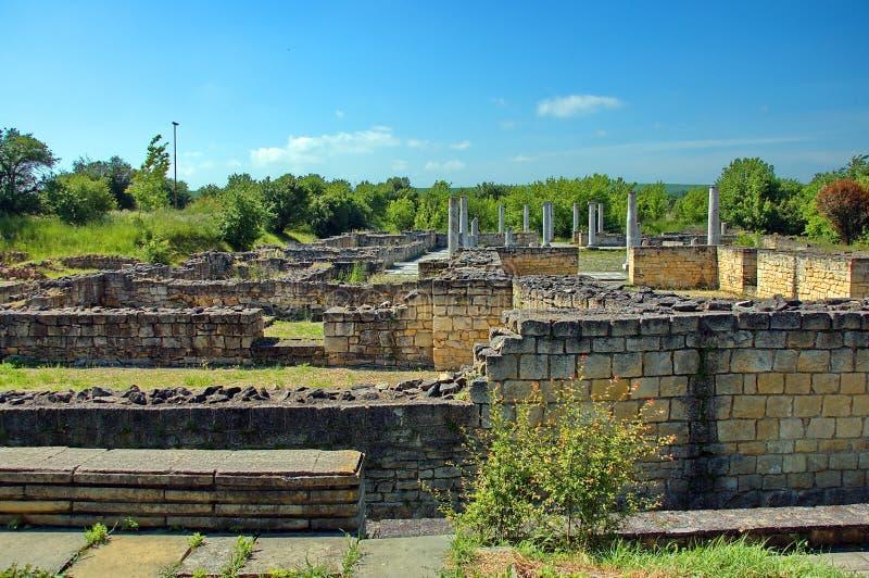 Peristyl komplex Abritus在当前城镇Razgrad 库存图片