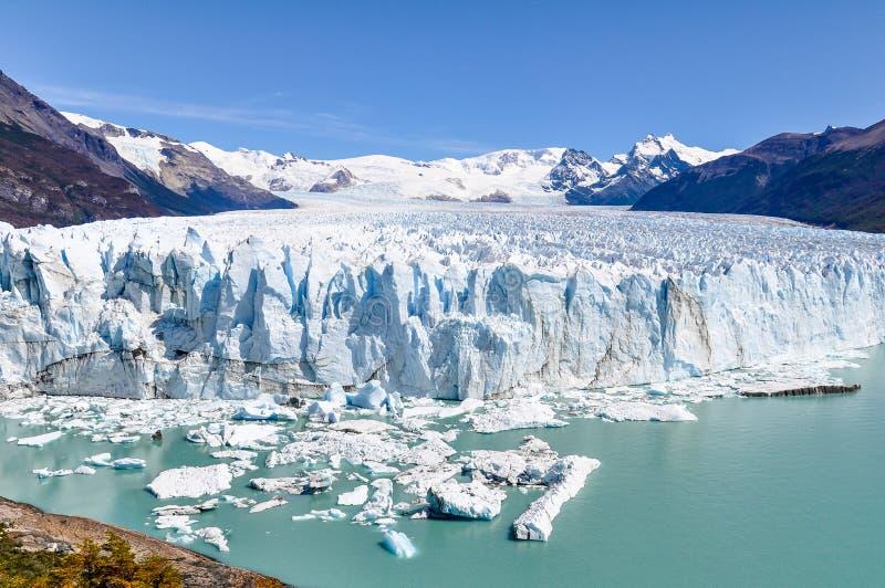 Perito Moreno en la Argentina foto de archivo libre de regalías