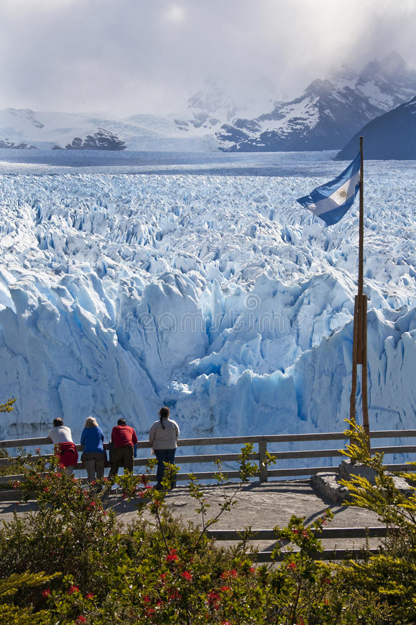 Perito Moreno glaciär - Patagonia - Argentina arkivfoto