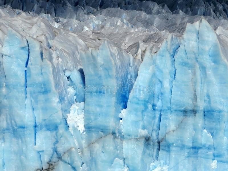 Iceberg. Arctic Glacier. The Wall of Blue Ice. stock photography