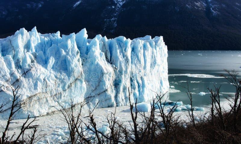 Perito moreno glacier calafate winter season vacations outdoors nature awe beauty landscape frozen lake snowy mountains. Patagonia, argentina, beautiful royalty free stock photography