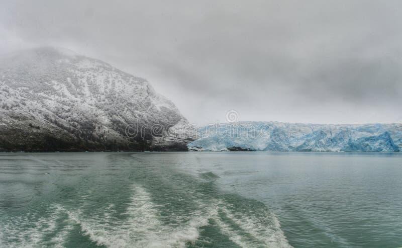 Perito moreno glacier calafate winter season vacations outdoors nature awe beauty landscape frozen lake snowy mountains. Patagonia, argentina, beautiful stock photography