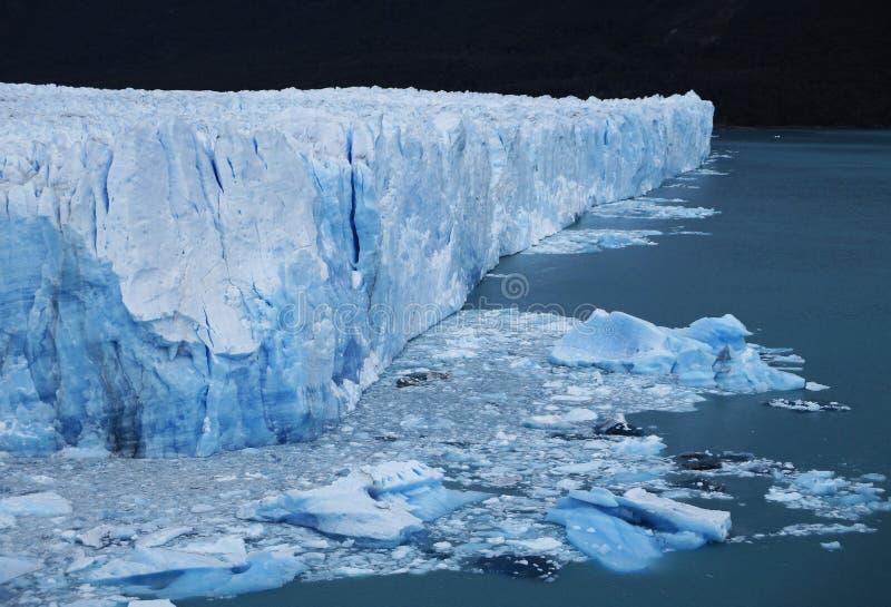 Perito Moreno Glacier Countless Cracks, avrinningar och Seracs, Calafate Argentina royaltyfri bild