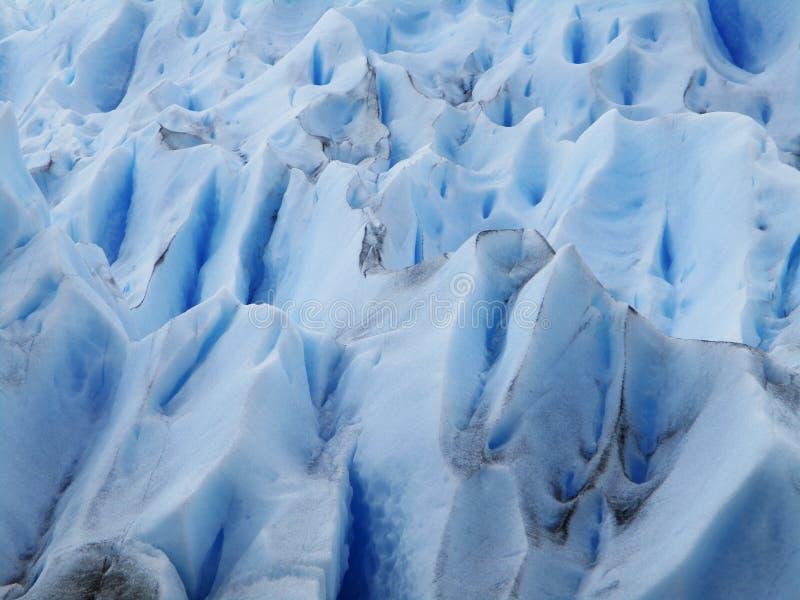 Perito Moreno Glacier Detail från luften, Calafate Argentina royaltyfri foto