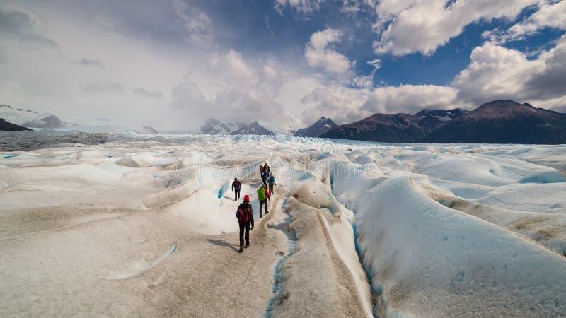 Perito Moreno Glacier, El Calafate, argentinsk Patagonia arkivfoton