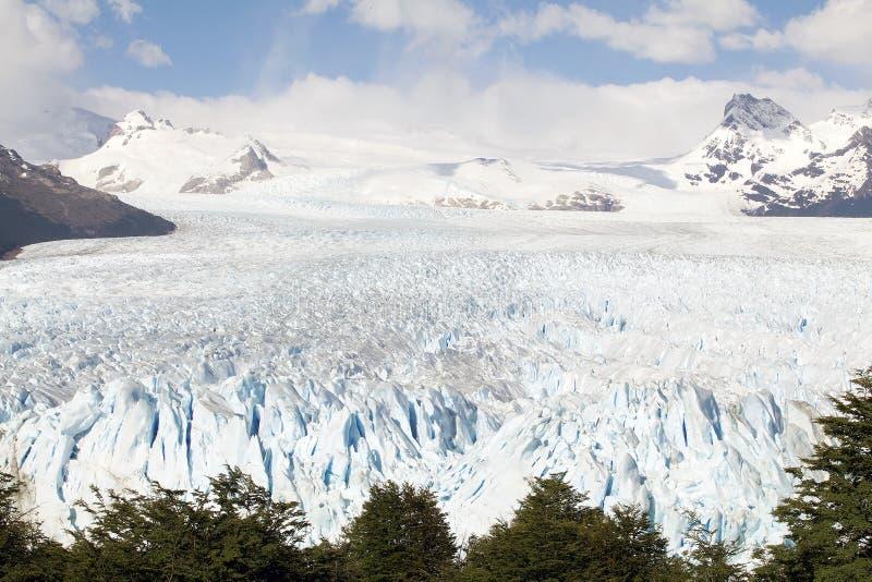 Perito Moreno Glacier en el parque nacional del Los Glaciares, Patagonia, la Argentina imagen de archivo