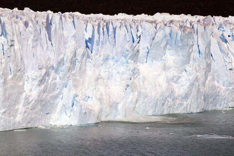 Perito Moreno Glacier en el parque nacional del Los Glaciares, Patagonia, la Argentina foto de archivo