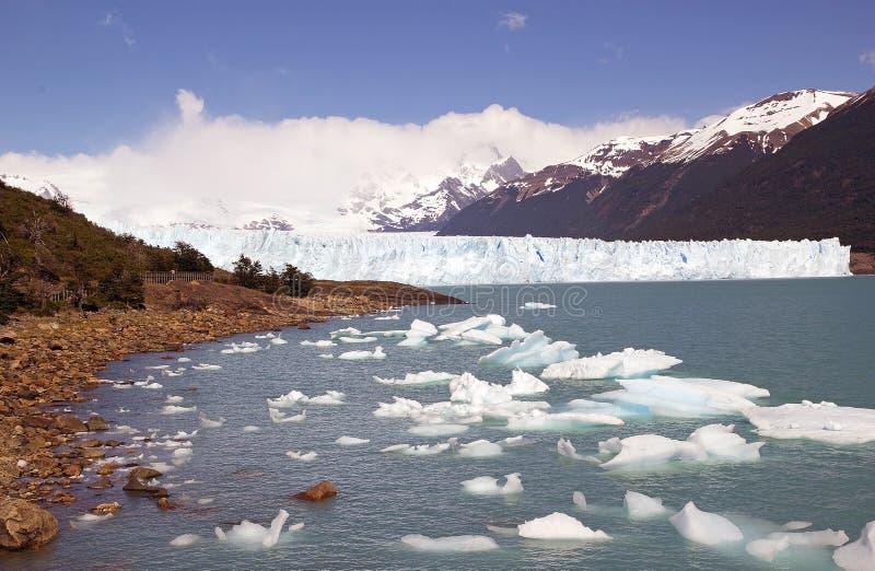 Perito Moreno Glacier en el parque nacional del Los Glaciares, Patagonia, la Argentina fotografía de archivo libre de regalías