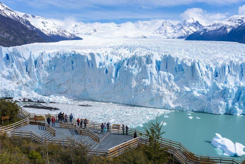Perito Moreno Glacier i nationalparken för Los Glaciares i Argentina fotografering för bildbyråer