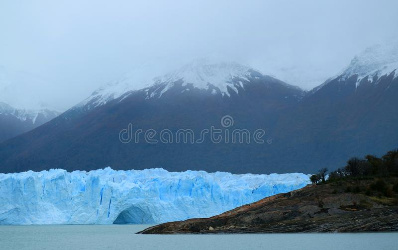 The Perito Moreno Glacier in the Los Glaciares National Park, Argentina. The Perito Moreno Glacier in the Los Glaciares National Park, Santa Cruz Province of stock images