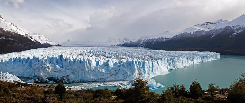 Perito Moreno glacier panorama. Perito Moreno glacier panoramic view in Argentina stock photography