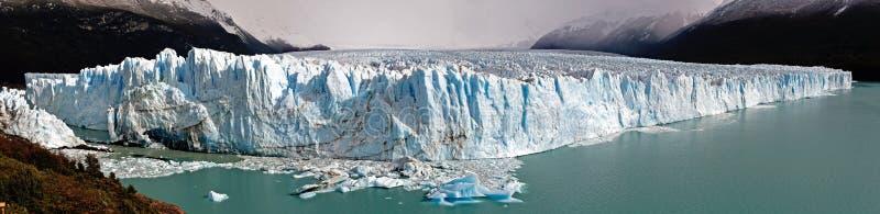 Perito Moreno glacier panorama. Perito Moreno glacier panoramic view in Argentina stock images